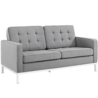 Loft Fabric Loveseat Light gray