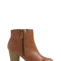Sleek Around Chunky Zip-Up Booties