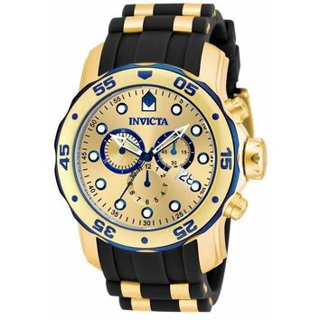 Invicta Men's 17887 Pro Diver Quartz Multifunction Gold Dial Watch