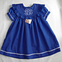 Monogram dress for Girls, Fall/Winter Personalized Baby Dress,Toddler Monogrammed Dresses  FREE Personalization 3M,6M,9M,12M, 2T,4T,5T,6T