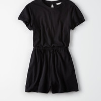 AE Knit T-Shirt Romper, True Black