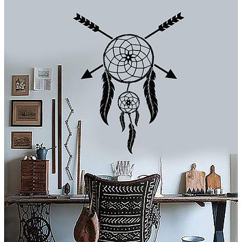 Vinyl Wall Decal Dreamcatcher Ethnic Style Room Dream Catcher Stickers Unique Gift (181ig)