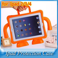 Baby Children Kids Safe Portable Shockproof Protection Case Cover Shell For New iPad 2 3 4 9.7 With EVA Foam Handle Stand shell