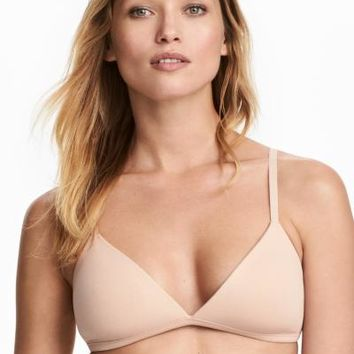 2-pack Cotton Soft-cup Bras - Black/beige - Ladies | H&M CA