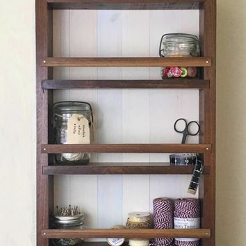The Mansfield Cabinet - Walnut Edition - Spice Rack / Kitchen Shelves