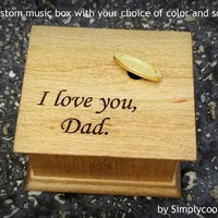 Daddy's girl, daddy and me, wooden music box, gift for daughter, custom music box, father of the bride gift, love dad, father's day gift,