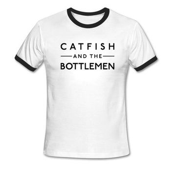 Catfish and the Bottlemen Logo Ringer T-shirt (White)