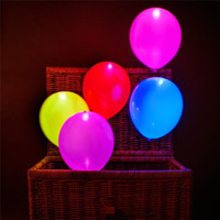 A pack of 5 pcs LED Weeding Birthday Party Balloons Wedding Light Mixed Colors Decoration Christmas