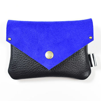 Blue and Black wallet
