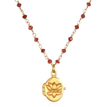 Begin Anew Gold Locket Necklace