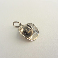 Sterling Silver 3D Cowboy Hat - 1.95g
