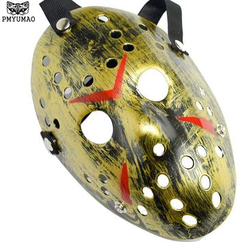 PMYUMAO Halloween Horror Masks Jason Voorhees Friday The 13th Horror Movie Hockey Mask Various Colors of the Party Masks