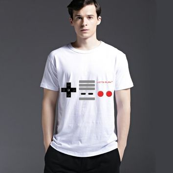 Summer Slim Round-neck Casual Short Sleeve Cotton Strong Character Fashion Men's Fashion Tee T-shirts = 6451665091