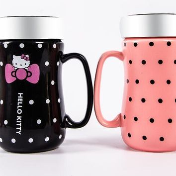 Cartoon Hello Kitty Bone Ceramic Coffee Milk Tea Mug Cup