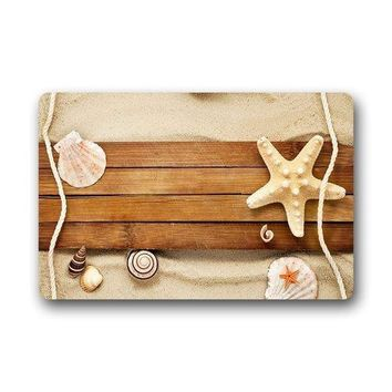 Autumn Fall welcome door mat doormat Design Fashions Unique Comfortable Style . Decor Gorgeous Sand Shells Snail Starfish Beach  AT_76_7