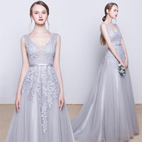 Cheap Sexy Long silver Wedding Burgundy Bridesmaid/Party/Prom/ Dresses/Gowns Turquoise/Sparkly/Lavender/Purple Junior w608185