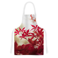 "Ann Barnes ""September Afternoon"" Red Leaves Artistic Apron"
