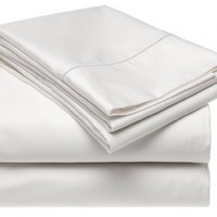 Renaissance 600-Thread-Count Cotton Sateen King Sheet Set, White