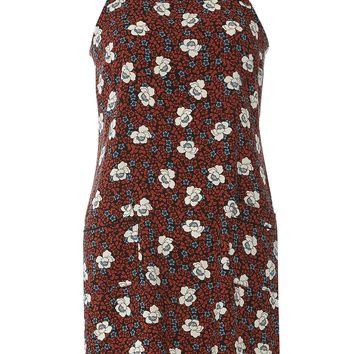 Petite Floral Print Pinny Dress - Dorothy Perkins