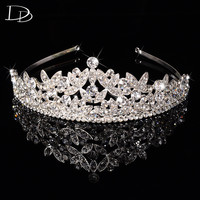 luxury Austrian crystal tiara jewelry for women bridal diadem princess crown wedding hair accessories tocados para novias HF031