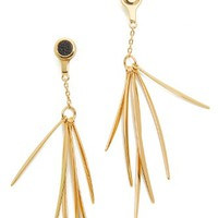 Leather Inlet Front & Back Earrings