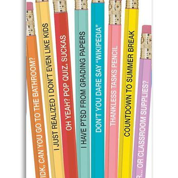 Pencils for Teachers - Set of 8 Teacher Inspired Pencils!