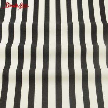 Home Textile 100% Cotton Material Black and White Stripe Patterns Booksew Fabric Tissue Bedding Baby Textile Decoration Crafts