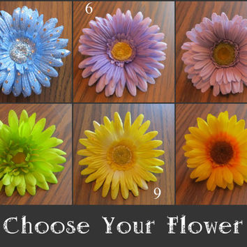 Daisy Headband - Choose Your Flower! with or without Rhinestones // Black Elastic // EDC // EDM // Festival // Adult Size