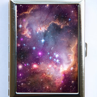 Galaxy Stars Cigarette Case Wallet Business Card Holder outer space