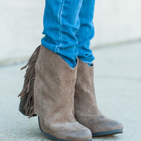 The Sierra Bootie, Taupe
