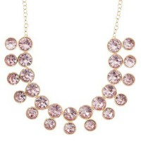 Stone Shower Necklace - Pink