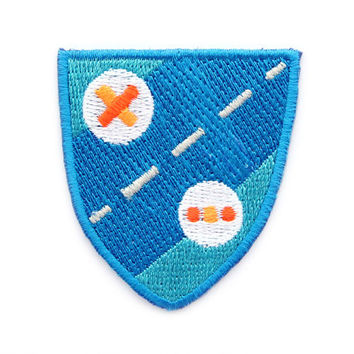 Blue Shield Iron On Patch