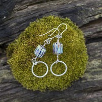 Handmade Sterling Silver and Glass Earrings