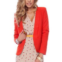 Gatsby Blazer in Red Orange