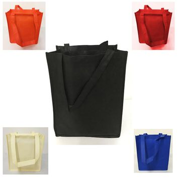 100g Polypropylene Grocery Reusable Tote Bag with Gusset - GN28