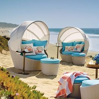 Soleil Canopy Daybed and Ottoman