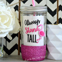 Stand Tall Flamingo Tumbler (Glass)
