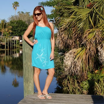 Shore Side Starfish Trail Strappy Dress