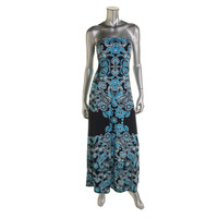 INC Womens Petites Printed Embellished Maxi Dress