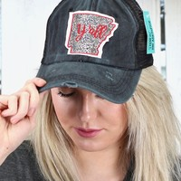 Leopard Arkansas Y'all Patch on Mesh Back Cap {Black}