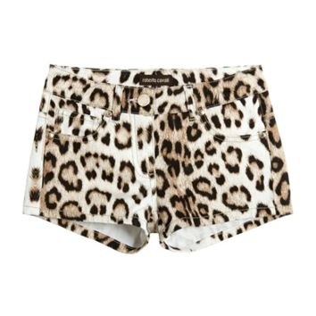 Cavalli Girls Leopard Shorts