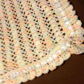 Heirloom Lace Baby Blanket Hand Crocheted From Toppytoppyknits