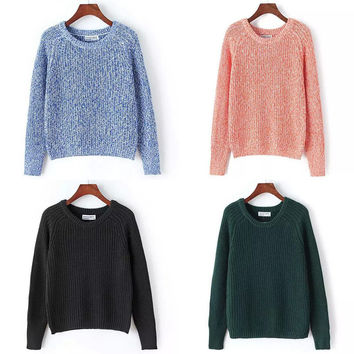 Winter Round-neck Pullover Sweater [8940815559]