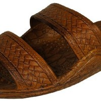 Pali Hawaii Classic Jesus Sandal (Brown, 8)