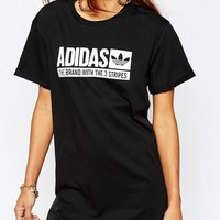 adidas Originals Trefoil Series T-Shirt Dress With Box Logo