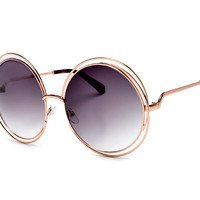 Copper/Alloy Round Sunglasses