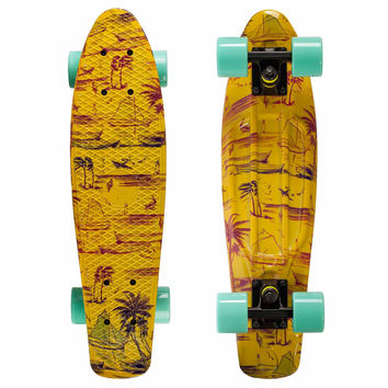 Graphic Penny Style Cruiser Board 22 inch Beach Plastic Fish Skateboard