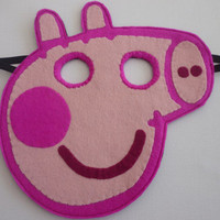 Felt Peppa Pig mask/toy/dress up/costume for children