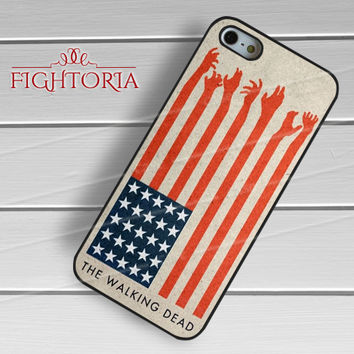 The Walking Dead America Flag - zFzF for  iPhone 6S case, iPhone 5s case, iPhone 6 case, iPhone 4S, Samsung S6 Edge