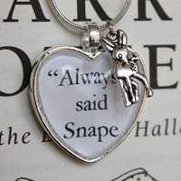 Harry Potter ''Always' said Snape' Silver Charm
